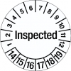 Inspection Date Label - Inspected