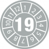 Tamper-evident Inspection Date Labels  Year 18